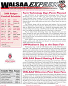 WALSAA Newsletter June 2008